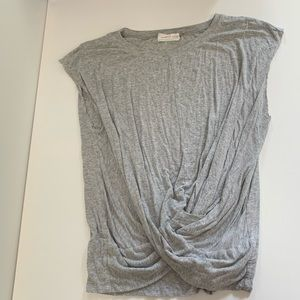 Mustard Seed Knot Gray Top
